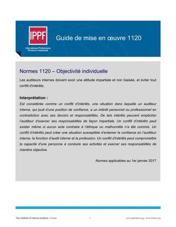 GM 1120 - Objectivité individuelle page 1