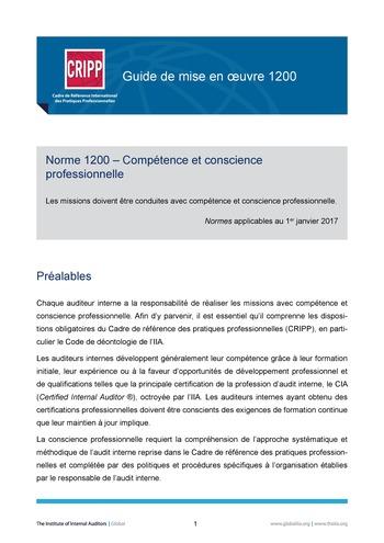 GM 1200 - Compétence et conscience professionnelle page 1