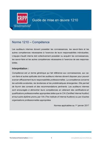 GM 1210 - Compétence page 1