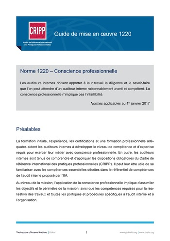 GM 1220 - Conscience professionnelle  page 1