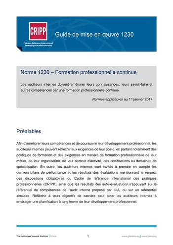 GM 1230 - Formation professionnelle continue page 1