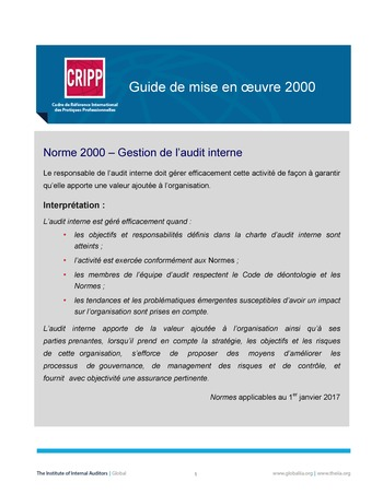 GM 2000 - Gestion de l'audit interne page 1
