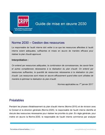 GM 2030 - Gestion des ressources page 1