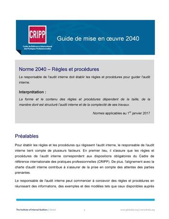 GM 2040 - Règles et procédures page 1