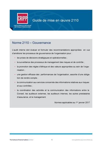 GM 2110 - Gouvernance page 1