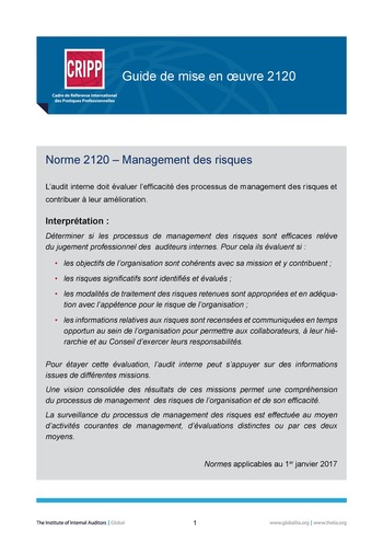 GM 2120 - Management des risques  page 1