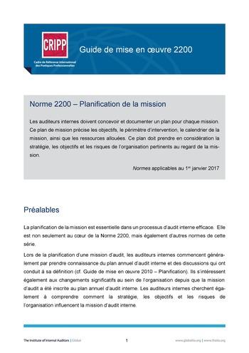 GM 2200 - Planification de la mission page 1