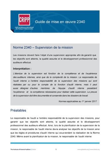 GM 2340 - Supervision de la mission page 1