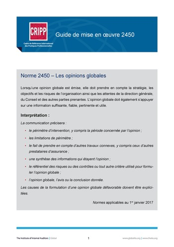 GM 2450 - Les opinions globales page 1