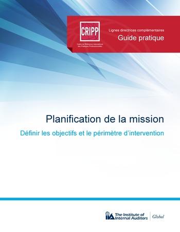 Planification de la mission : objectifs et périmètre d'intervention page 1