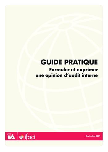 Formuler et exprimer une opinion d'audit interne page 1
