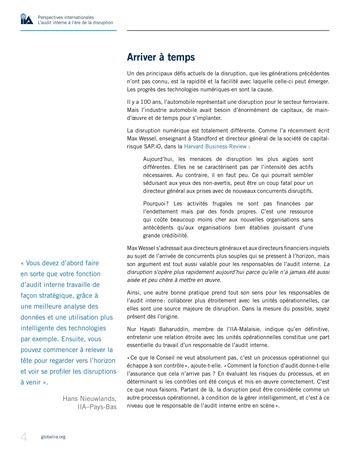 Perspectives internationales - L'audit interne à l'ère de la disruption page 6