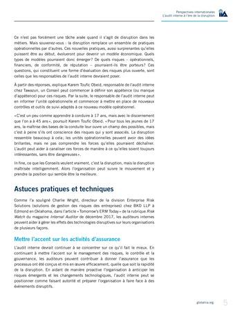 Perspectives internationales - L'audit interne à l'ère de la disruption page 7
