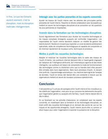 Perspectives internationales - L'audit interne à l'ère de la disruption page 8