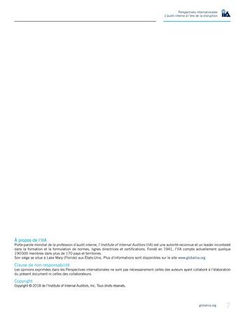 Perspectives internationales - L'audit interne à l'ère de la disruption page 9