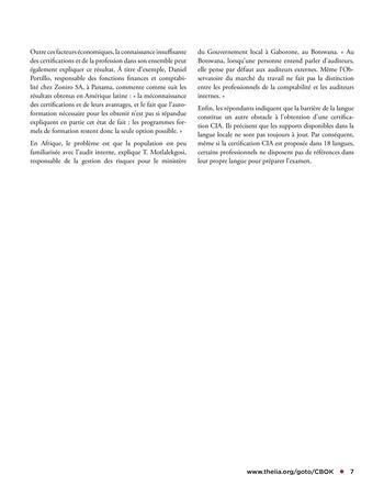Apprentissage permanent des auditeurs internes page 7