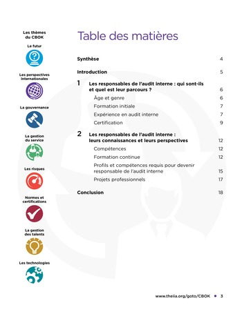 Evolution de carrière des responsables de l'audit interne page 3