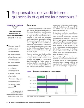 Evolution de carrière des responsables de l'audit interne page 6