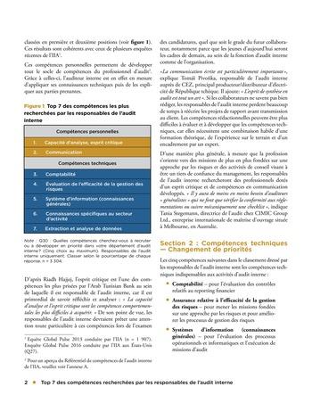 Top 7 des compétences recherchées par les responsables de l'audit interne page 2