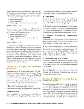 Top 7 des compétences recherchées par les responsables de l'audit interne page 6