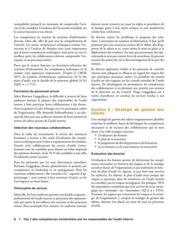 Top 7 des compétences recherchées par les responsables de l'audit interne page 8