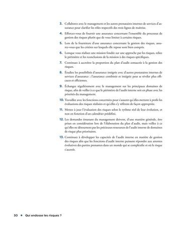 Qui endosse les risques? page 30