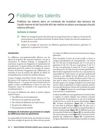 Solutions d'excellence pour motiver les auditeurs internes page 12