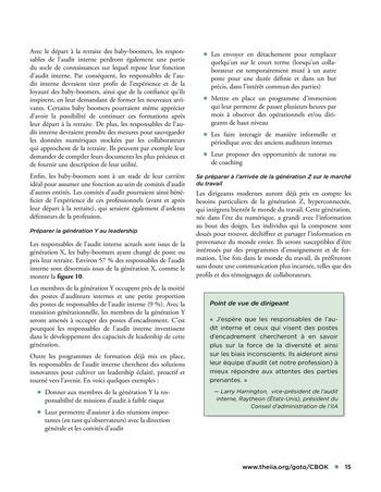 Solutions d'excellence pour motiver les auditeurs internes page 15
