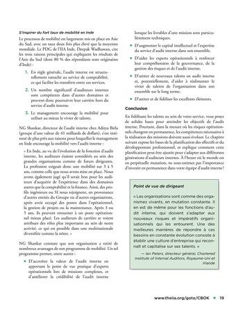 Solutions d'excellence pour motiver les auditeurs internes page 19