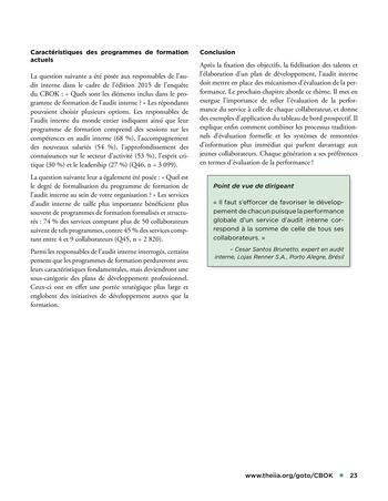 Solutions d'excellence pour motiver les auditeurs internes page 23