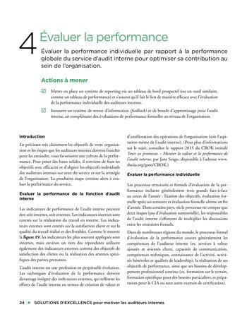 Solutions d'excellence pour motiver les auditeurs internes page 24