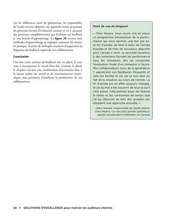 Solutions d'excellence pour motiver les auditeurs internes page 26