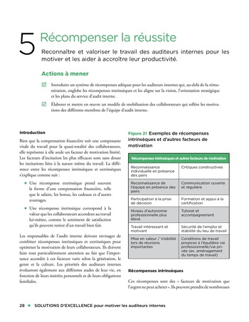 Solutions d'excellence pour motiver les auditeurs internes page 28