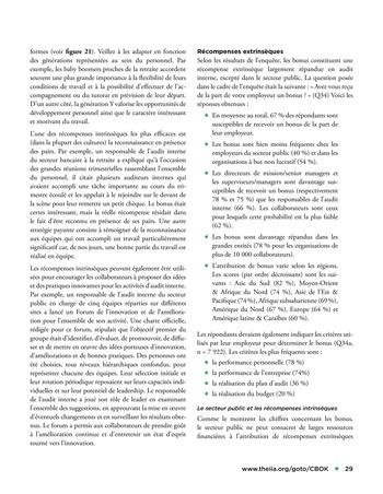 Solutions d'excellence pour motiver les auditeurs internes page 29
