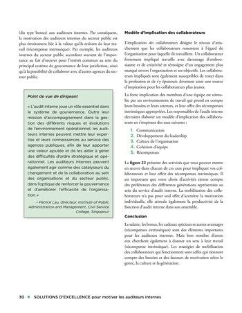 Solutions d'excellence pour motiver les auditeurs internes page 30