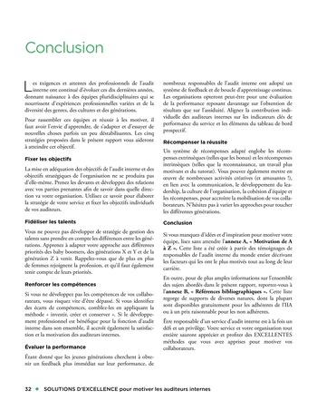 Solutions d'excellence pour motiver les auditeurs internes page 32