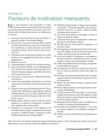Solutions d'excellence pour motiver les auditeurs internes page 33