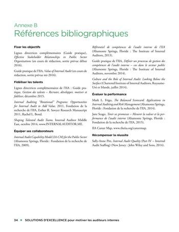 Solutions d'excellence pour motiver les auditeurs internes page 34