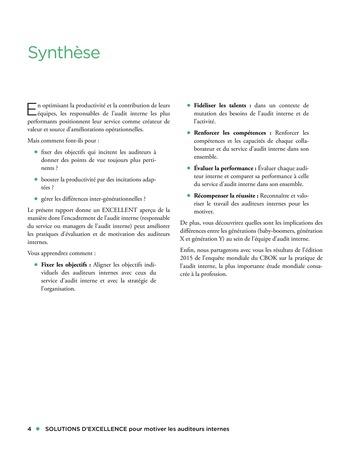 Solutions d'excellence pour motiver les auditeurs internes page 4