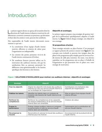 Solutions d'excellence pour motiver les auditeurs internes page 5