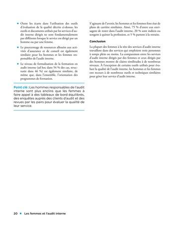 Les femmes et l'audit interne page 20