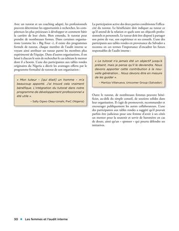 Les femmes et l'audit interne page 30