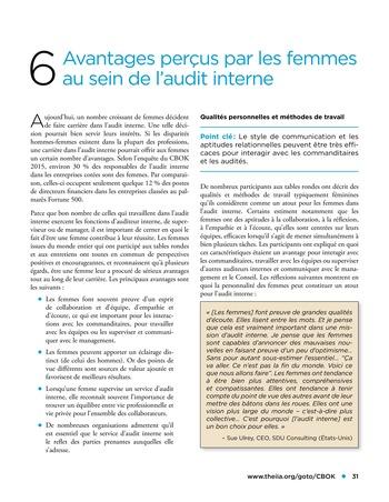 Les femmes et l'audit interne page 31
