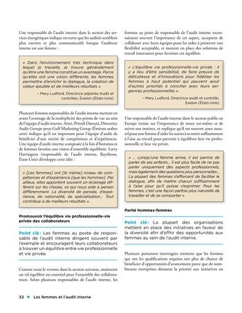 Les femmes et l'audit interne page 32
