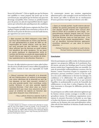 Les femmes et l'audit interne page 33