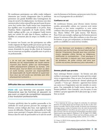 Les femmes et l'audit interne page 35