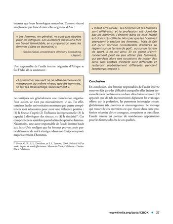 Les femmes et l'audit interne page 37