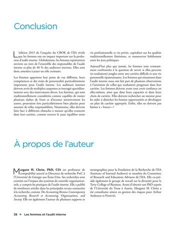 Les femmes et l'audit interne page 38