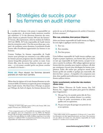 Les femmes et l'audit interne page 7