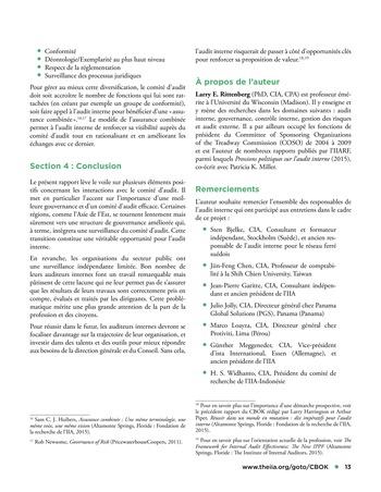 Interagir avec le comité d'audit page 13